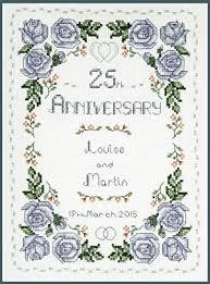 Lifetime Samplers Decorative Textiles Roses Silver Wedding