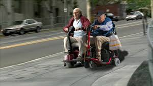 Old Man on a Scooter : photoshopbattles