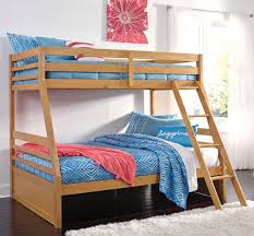 Signature Design by Ashley Hallytown Solid Pine Twin Full Bunk Bed