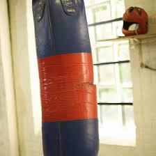 homemade punching bag diy process