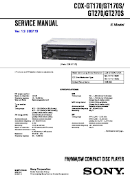 sony car audio service manuals page 24 Sony Cdx Gt230 Wiring Diagram cdx gt170, cdx gt170s, cdx gt270, cdx gt270s service sony cdx gt210 wiring diagram
