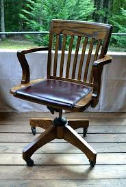 vintage wooden office chair. Vintage Wood Swivel Desk Chair Old Fashioned Simple Antique Office S . Wooden