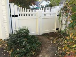 picket fence double gate. PVC Victorian Top Double Gate Picket Fence