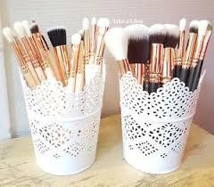 image is loading make up brush holder pots candle holder set