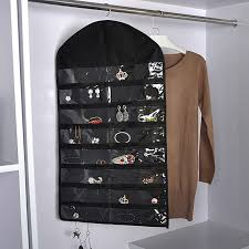 details about new jewelry closet hanging necklace storage organizer holder display case bag