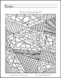 Small Picture Abstract Coloring Page 5 Free to print PDF file Coloring