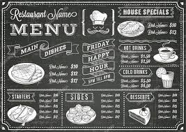 Chalkboard Menu Templates Chalkboard Menus Stock Pictures Royalty Free Menu Images