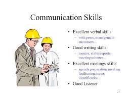 project management education ppt  communication skills excellent verbal skills good writing skills