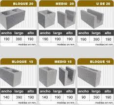 Bloque De Hormigón Medidas Estándar  Sistemas Constructivos Bloque De Hormigon Medidas