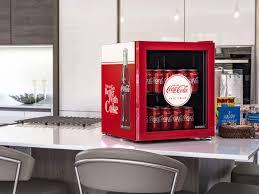 coca cola retro mini glass door bar fridge looks ptretty neat