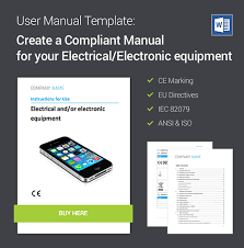 User Manual Template For Electronic Equipment For Eu