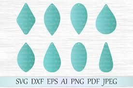earrings svg file earring template cut file tear drop svg file earrings with