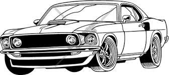Muscle Car Clip Art Image Clipartandscrap