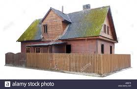 Die Zerstörten Alten Holzhaus Und Zaun Masseaufbau Von Anfang Des 20