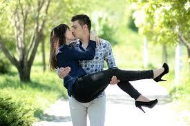 couple love kiss hug beauty park