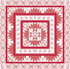 Quilt Inspiration: Free pattern day! Red and white quilts (part 1) & Coonawarra Red quilt, ~60 x 60
