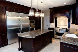 Dark Mahogany Kitchen Cabinets Kitchen Rustic Kitchen Cabinets And Kitchen Island For Small