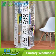 white book rack. Modren White White Multilayer 360 Rotate Wooden Book Shelf Rack In