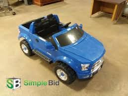 SimpleBid Inc. | Blue Ford F150 Pick up Truck Power Wheels - Tail ...