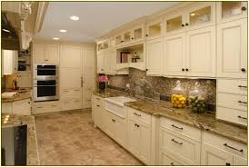 White Kitchens With Granite Granite Tile Countertops White Cabinets Home Design Ideas