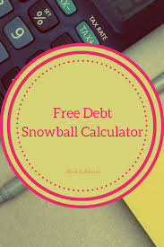 Free Debt Snowball Calculator Free Debt Snowball Calculator Blonde Balanced