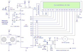 circuit diagram of water level controller the wiring diagram ultrasonic water level controller using 8051 measures water level circuit diagram
