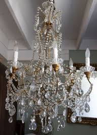 1930 s italian crystal macaroni beaded chandelier