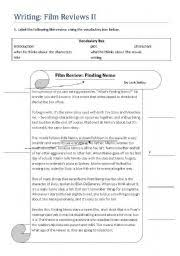 worksheet writing film reviews ii english worksheet writing film reviews ii