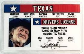 Ebay Nelson Willie Novelty Texas - Drivers License
