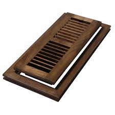 decor grates 4 in x 10 in wood natural hickory saddle flush mount floor