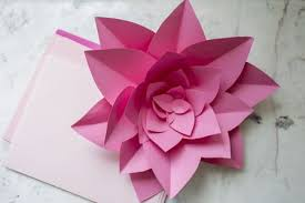 How To Create A Flower With Paper How To Make Large Paper Flowers
