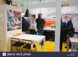 Paris, France, Unusual Advertising Furniture Shopping, Ikea Furniture Store,  Apartment Installation, in Auber Station. International ready to assemble  ...