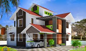 Small Picture Modern Slope Roof Villa Kerala Home Design And Floor Plans Simple