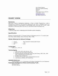 38 Elegant Resume Format For Php Developer Fresher Resume