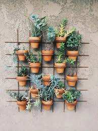 hang pot plants down from outside stair