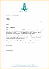 Formal Job Offer Template 10 Letter Of Employment Offer Template Proposal Sample