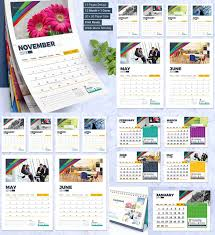 2018 calendar design template wall and desk
