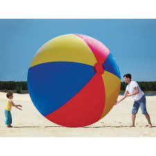 Beach ball in sand Childhood Big Mouth Inc Giant Inflatable Beach Ball 10ft Onepixel Big Mouth Inc Giant Inflatable Beach Ball 10ft Wwwkotulascom