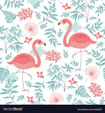 Flamingo Pattern Simple Seamless Pattern With A Flamingo Royalty Free Vector Image