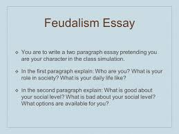 what is the social hierarchy that makes up phoebus high school  20 feudalism essay