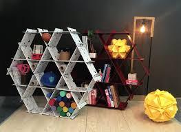 diy cardboard furniture mommy and me furniture hexagon shelves diy furniture back to school honeycomb cardboard furniture diy