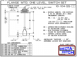 10 104 ac flange vertical mounted one level shielded level switch Level Switch Wiring Diagram diagram 10 104 ss ac flange vertical mounted one level shielded level wiring diagram for hvac level switch