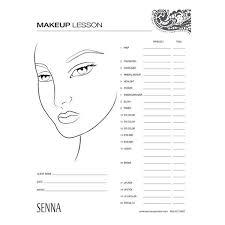 Makeup Artist Eye Charts Senna Makeup Artist Face Charts