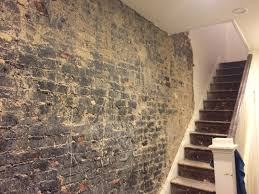 removing tar from interior exposed brick wall brickhouse 2 jpg