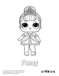 Coloring Pages Lol Doll Coloring Pages Dolls Printable Surprise I