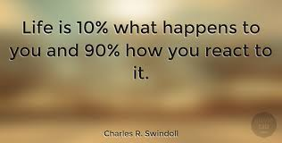 Life Quotes Images Unique Charles R Swindoll Life Is 48% What Happens To You And 48% How You