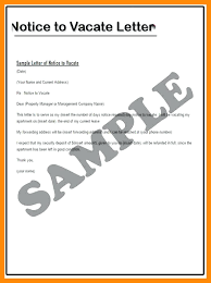 Rent Notice Letter Sample Apartment Move Out Notice Letter Sample Day Of Intent Vacate Tenant