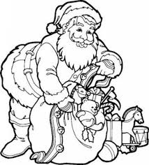 Small Picture Santa Coloring Pages For Kids asobooinfo