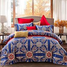 2018 egyptian cotton bedlinen luxury bedclothes king queen double size bedcover boho duvet cover pillowcase bedding set affordable comforter sets black