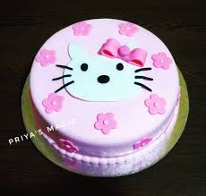 A Simple Yet Very Cute Hello Kitty Cake Priyas Magic Cooking
